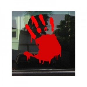 Bloody Hand Window Decal