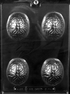 Brain Chocolate Molds
