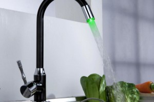 Color Change LED Light Kitchen Faucet