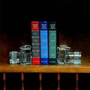Crystal DSLR Camera Bookends