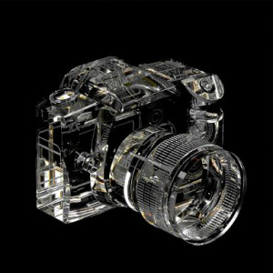 Crystal DSLR Camera Model