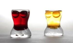 Feminine Figure Shot Glasses
