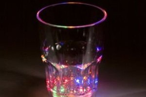Flashing Lights Shot Glass