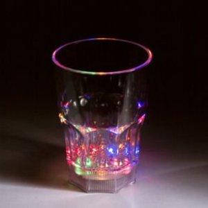 Flashing Lights Shot Glass