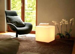 Glow Cube Footstool