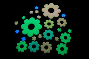 Glow in the Dark Wall Flowers