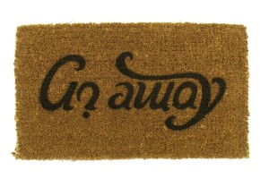 Go Away Reversible Doormat