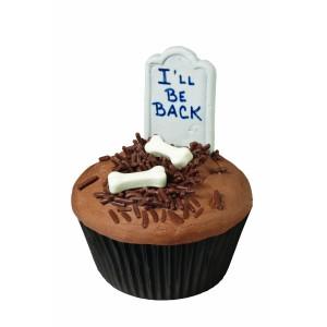 Halloween Cupcake Tombstone Decoration