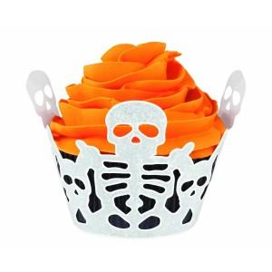 Halloween Skeleton Cupcake Wrapper