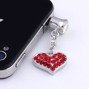 Heart Shaped iPhone Dust Plug