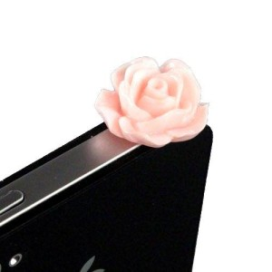 iPhone Pink Rose Dust Plug