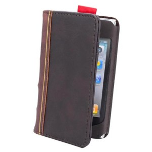 Leather Book iPhone 4 Case Closed