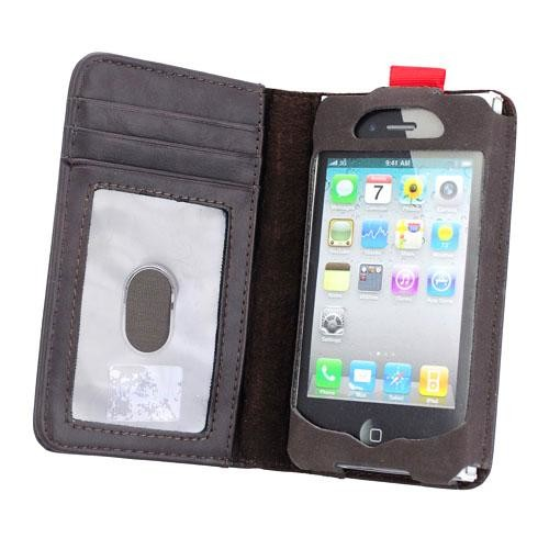 Leather Book iPhone 4 Case Open