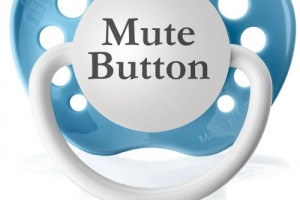 Mute Button Funny Pacifier
