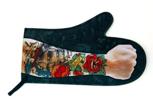 Oven Mitt with Tattoo Arm Design