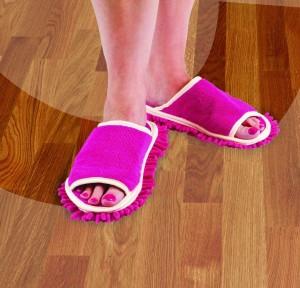 Pink Floor Scrubbing Sandals