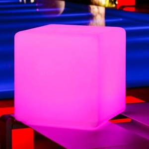 Pink Glow Cube