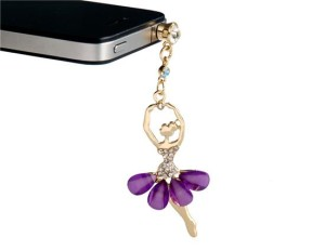 Purple Ballerina iPhone Dust Plug