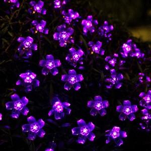Purple Solar Fairy Flower Lights