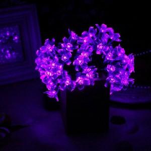 Purple Solar Flower Lights