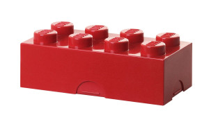 Red LEGO Block Lunch Box