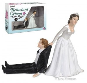 Reluctant Groom Wedding Cake Topper