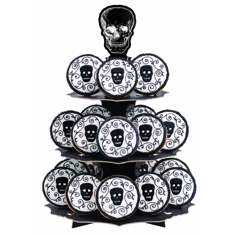 skull cupcake stand - Halloween Cupcake Holder