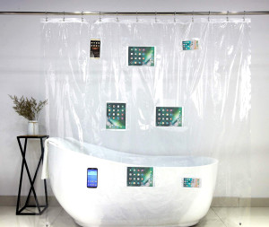 Smart Phone Shower Curtain