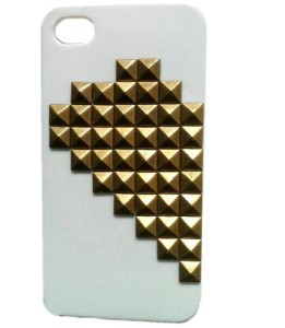 Twin Hearts White Half iPhone Case