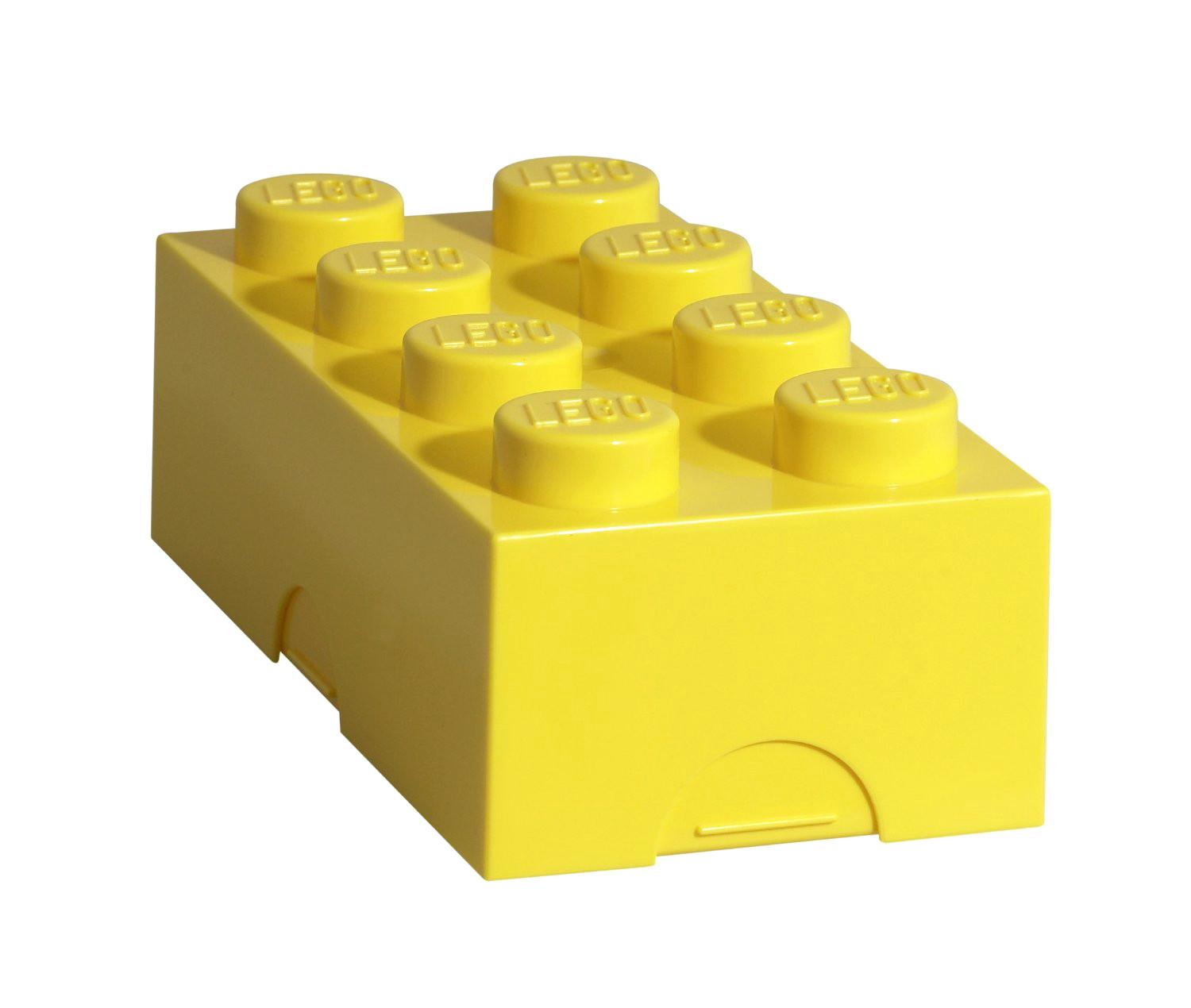 Yellow Lego Lunch Box