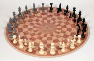 3 Person Chess Board