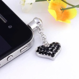 Black Heart Shaped iPhone Plug