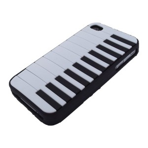 Black iPhone 4 Piano Case