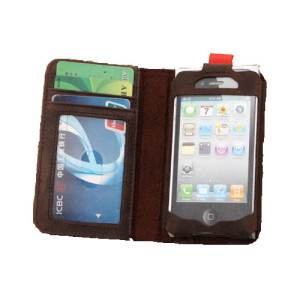 Cheap Leather Book iPhone 4 Case
