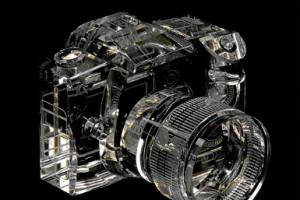 Crystal DSLR Camera Model