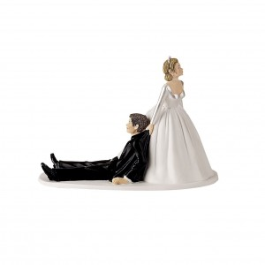Dragged Wedding Cake Topper