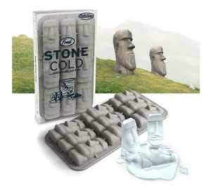 Easter Island Maoi Stone Heads Ice Cube Tray