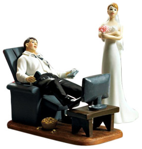 Gaming Groom Wedding Cake Topper