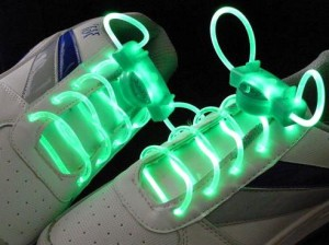 Green LED Light up Shoelaces