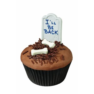 Halloween Cupcake Tombstone Decoration