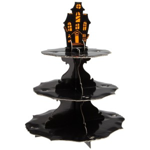 Halloween Haunted Manor Cupcake Stand