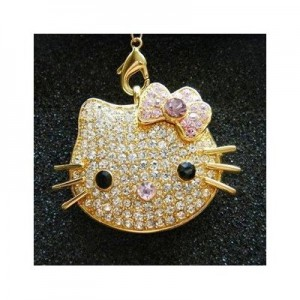 Hello Kitty Flash Drive Crystal Necklace
