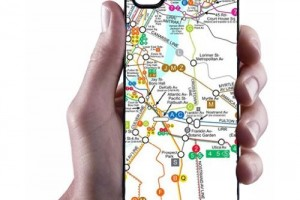 iPhone 5 New York Map Case