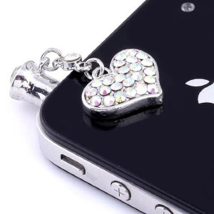 iPhone Love Heart Dust Plug
