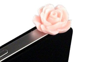 iPhone Pink Rose Dust Plug