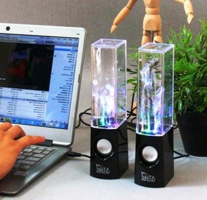 LED Light Up Fountain Speakers