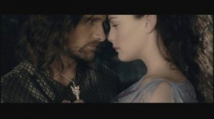 Lord of the Rings Arwen and Aragorn