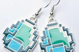 Minecraft Diamond Earrings