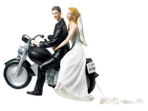 Motorbike Wedding Cake Topper