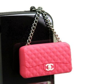 Pink Handbag iPhone Dust Plug